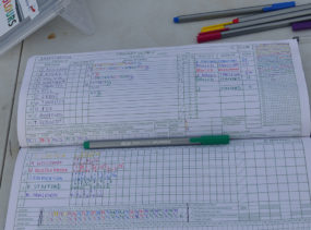 GCC's very colourful scorebook