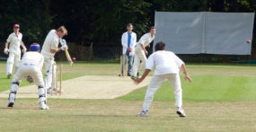 Jake gets a wicket (ct in the Gully)
