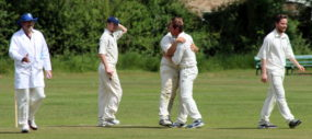 his first wicket for GCC