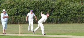 Jamie gets a wicket