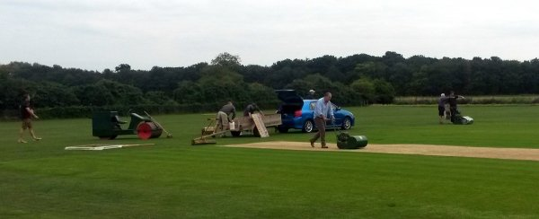 GCC Synchronized Mowing Team in Action, surely an Olympic Sport of the not too distant Future