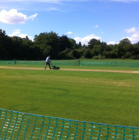 GCC's Pitch Preparation Team out in Force.....