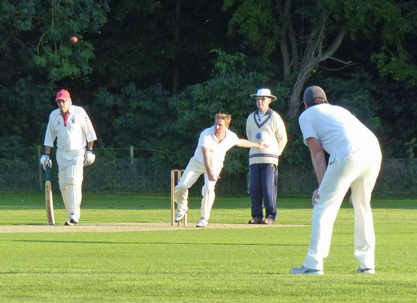 Dan about to take the final wicket